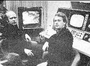 Left Bror Wikstrom and right, Ture Sjolander 1966 in studio making TIME. FIRST VIDEO SYNTEZISER